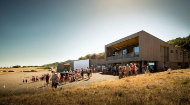 MERIT WINNERMuriwai Surf Lifesaving Club (2 of 4) architecture, house, landscape, sky, white, brown