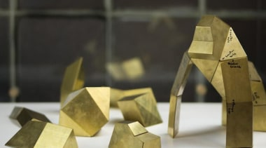 Poligon is a collection of foldable metallic sculptures material, metal, product design, black
