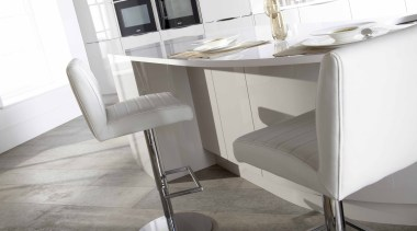 Circle kitchen 2 - Circle kitchen_2 - angle angle, chair, desk, floor, furniture, interior design, product, table, white, gray