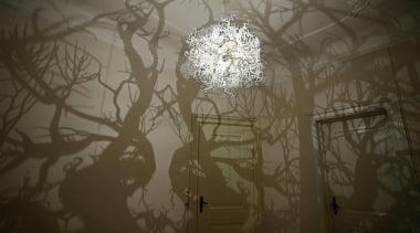 Inspired by the illustrations of German biologist, naturalist atmosphere, branch, ceiling, darkness, daylighting, light, light fixture, lighting, plaster, sunlight, tourist attraction, twig, wall, brown