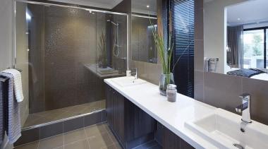 Ensuite design. - The Macquarie Display Home - bathroom, room, gray, black