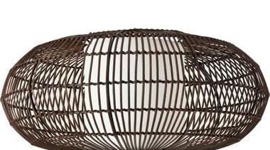 FeaturesA bold cane pendant design woven into an basket, product, storage basket, white, black