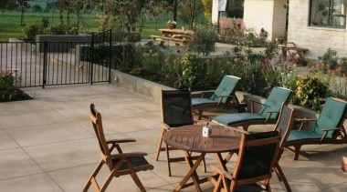 pce0026web.jpg - pce0026web.jpg - backyard | chair | backyard, chair, courtyard, furniture, outdoor furniture, outdoor structure, patio, property, table, brown