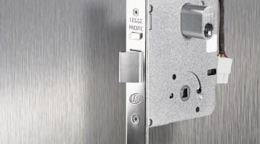 Legge 990MFE Series Electric Lock. Chrome Plate or hardware, hardware accessory, hinge, lock, product, product design, gray