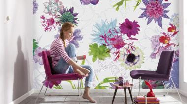 Fleur de Paris Interieur - Italian Color Range decor, floral design, floristry, flower, flower arranging, interior design, lilac, pink, plant, purple, violet, wallpaper, white
