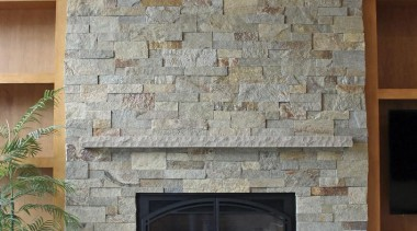 Dimensional Ledgestone Collection -Need to contact Natural Stone fireplace, hearth, living room, stone wall, wall, gray, brown