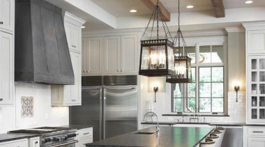 Start a myTrends ProjectCreate an ideas hub for cabinetry, ceiling, countertop, cuisine classique, floor, flooring, hardwood, interior design, kitchen, laminate flooring, room, wood flooring, gray, brown