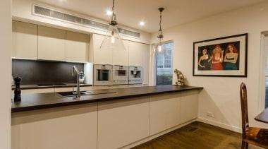 Pepper Design - Poggenpohl kitchen with Matt Lacquer countertop, interior design, kitchen, property, real estate, room, orange, brown