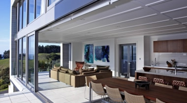 Waiheke - Open Plan Living - waiheke - apartment, architecture, building, daylighting, facade, home, house, property, real estate, siding, window, gray