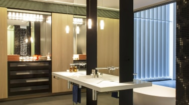 Winner Bathroom Design of the Year 2013 New ceiling, floor, flooring, interior design, orange, black