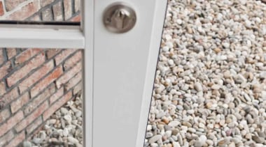 FVL100/48 - Solid Unsprung Lever Handle Attached to wall, gray