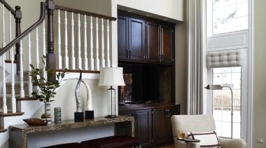 Entire Home Remodel - Great Room - bed bed frame, floor, furniture, home, interior design, living room, room, shelving, window, white
