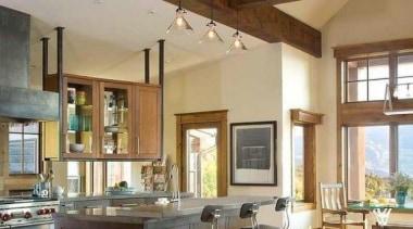 wooden beams again! Gosh! - Kitchen Design Ideas beam, ceiling, countertop, daylighting, estate, floor, flooring, hardwood, interior design, kitchen, living room, real estate, window, wood, wood flooring, brown