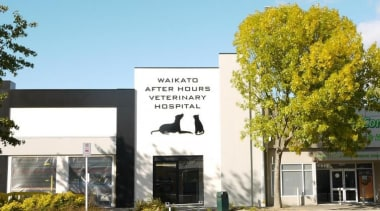 Waikato Veterinary Hospital - Waikato Veterinary Hospital - advertising, building, facade, home, house, property, real estate, white