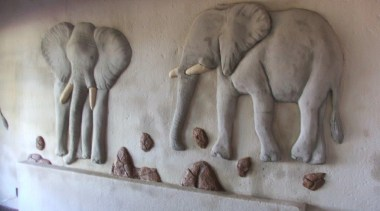 Dcocrete 47 - Dcocrete_47 - african elephant | african elephant, carving, elephant, elephants and mammoths, fauna, indian elephant, relief, sculpture, stone carving, gray