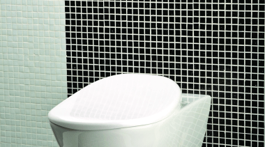 Wall-hung porcelain toilet for concealed flushing system, includes bidet, black and white, ceramic, plumbing fixture, product, product design, toilet, toilet seat, white, black