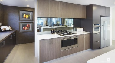 Kitchen design. - The Lexington Two Storey Display cabinetry, countertop, cuisine classique, interior design, kitchen, real estate, room, gray