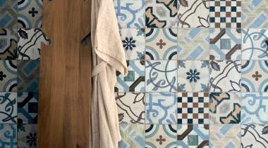 9 different patterned tiles, randomly mixed within a design, pattern, textile, wall, white