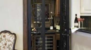 Modern Wine Cellar Ideas - Modern Wine Cellar cabinetry, door, furniture, gray, black