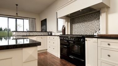 Traditional country style kitchen at home by Fowler cabinetry, countertop, cuisine classique, floor, flooring, interior design, kitchen, property, real estate, room, white, brown