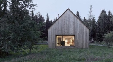 Haus am Moor, Krumbach, AustriaBernardo Bader Architects cottage, facade, home, house, hut, shed, black