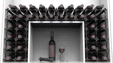 Sleek. Classy. Modern. Custom. Affordable. DIY. Store all furniture, product, purple, wine rack, black, gray, white