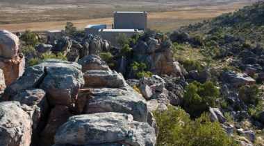 House in the Mountains, Cederberg, South AfricaWolff geological phenomenon, geology, landscape, mountain, national park, rock, sky, tree, wilderness, black, gray