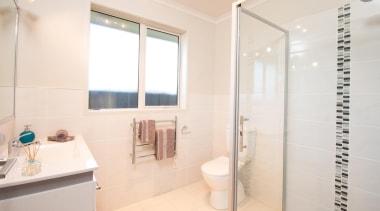 For more information, please visit www.gjgardner.co.nz bathroom, floor, home, interior design, property, real estate, room, tile, white