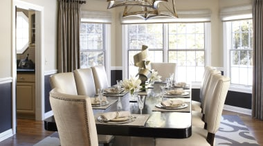 Entire Home Remodel - Dining Room - ceiling ceiling, chair, dining room, floor, furniture, home, interior design, living room, room, table, window, gray