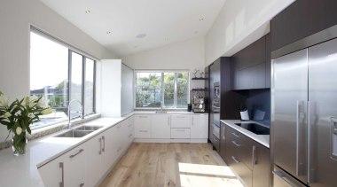 White kitchen design by Yellowfox - Bright Kitchen countertop, interior design, kitchen, property, real estate, gray