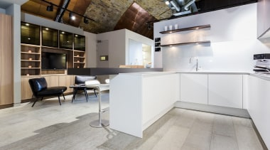 Concreate CF101 PoggenPohl 17 - Concreate_CF101_PoggenPohl_17 - countertop countertop, floor, flooring, hardwood, interior design, kitchen, laminate flooring, loft, wood flooring, gray, white