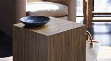 Styling Wendy Bannister. Photography Earl Carter. - Cube: coffee table, drawer, end table, floor, flooring, furniture, hardwood, nightstand, product, product design, table, wood, wood stain, black, white