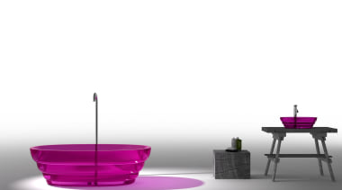 Famed Italian industrial designers ZAAFDesigns has broken the coffee table, furniture, product, product design, purple, table, white, gray