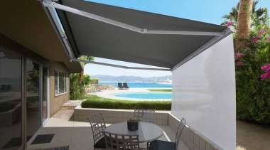 luxaflex ventura awning - luxaflex ventura awning - awning, canopy, house, outdoor structure, property, real estate, roof, shade, black, gray