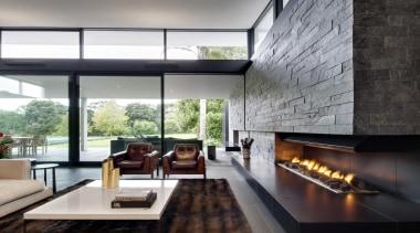 Coatesville House - Coatesville House - architecture | architecture, house, interior design, living room, real estate, window, black, gray