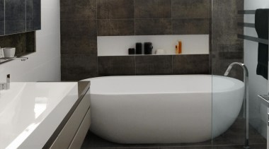 Paradox grey bathroom floor and wall tiles - architecture, bathroom, floor, flooring, interior design, product design, room, tile, black, gray, white