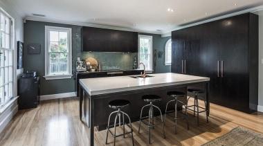 Entrants: Davinia Sutton & Sam Lawrence – 2015 countertop, floor, flooring, interior design, kitchen, real estate, room, wood flooring, gray, black