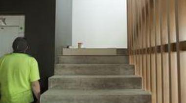 Network Tasman Building - Network Tasman Building - architecture, daylighting, floor, flooring, handrail, stairs, gray, black
