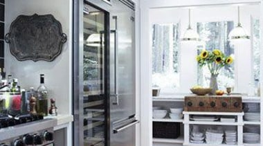 Large Fridge - Large Fridge - cabinetry | cabinetry, countertop, floor, flooring, home appliance, interior design, kitchen, kitchen appliance, refrigerator, room, white, gray