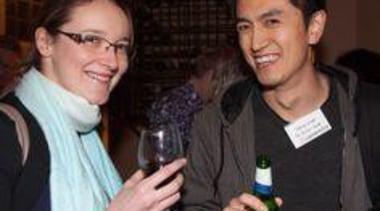 Bojana Hynes and Danny Eiem (The Buchan Group) drink, event, product, socialite, black