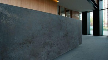 Oxide Nero Spieki Kwarcowe Laminam - Oxide Nero architecture, concrete, daylighting, floor, wall, black