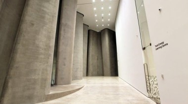 The Len Lye Centre 04 - The Len architecture, floor, interior design, property, structure, wall, white
