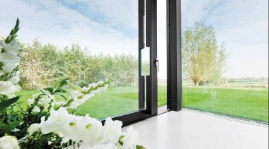LSQ231PA - Pair of Solid Lift-Up Sliding Door flower, grass, home, property, window, white