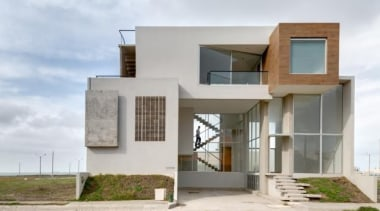 Inmobius, MexicoArquitectura en Movimiento Workshop architecture, building, elevation, facade, home, house, property, real estate, residential area, gray, white
