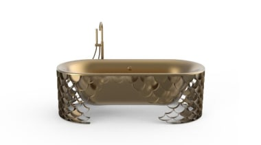 Koi bathtub by Maison Valentina – base in aged furniture, plumbing fixture, product, table, white