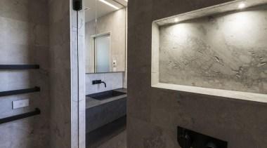 Winner – Bathroom Design of the Year – architecture, floor, interior design, black, gray