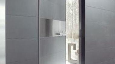 Thin ceramic tiles for floors, walls and exteriors daylighting, door, floor, glass, interior design, wall, gray