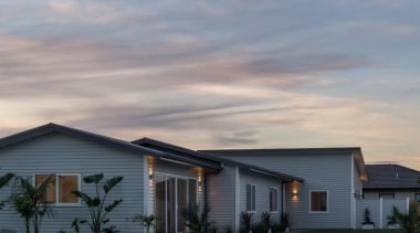 Tauranga Showhome - Tauranga Showhome - building | building, cloud, cottage, elevation, estate, facade, farmhouse, home, house, landscape, property, real estate, residential area, roof, siding, sky, suburb, gray