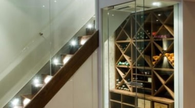 Modern Wine Cellar Ideas - Modern Wine Cellar ceiling, floor, flooring, glass, interior design, brown, gray