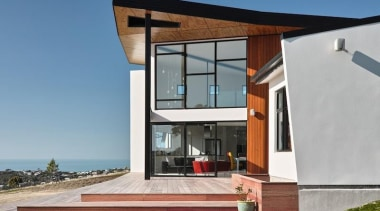 TIDA New Zealand Architect-designed Homes - 2015 Trends architecture, building, elevation, facade, home, house, property, real estate, window, gray, teal